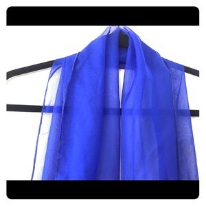 Accessories - Sheer blue scarf NWOT